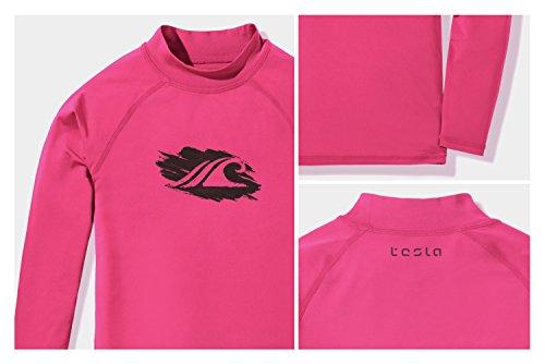 Tesla TM-GSR20-MGT_X-Large (16) Girls UPF 50+ Long Sleeve Rashguard Youth Surf Kids Swim top GSR20 by Tesla (Image #3)