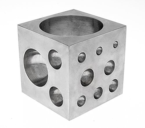 Advertisement Metal (SE JT3403DS Dapping Block Square with Polished High Carbon Steel Cavities, 2