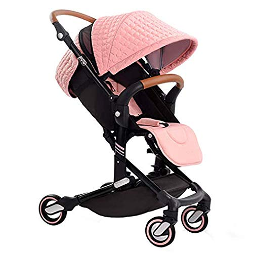 - New Style—Babysing high Landscape Stroller Baby Stroller Four Seasons Universal Folding cart Baby Stroller I-Go (Pink Color)