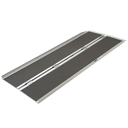 Olymstore 6 ft Aluminum Folding Ramp for Wheelchair Scooters Emergency Hospital -Briefcase Mobility,Portable, Non Slip,Home Utility Threshold Steps
