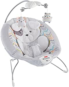 Fisher-Price My Little Snugapuppy Deluxe Bouncer, White