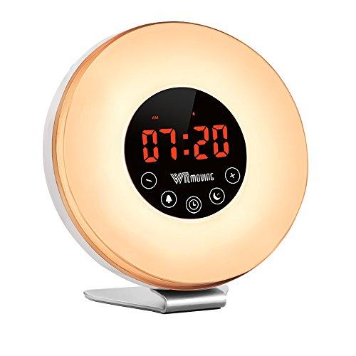 Alarm Clock,Witmoving Wake Up Light Bedside Sunrise Simulator with...