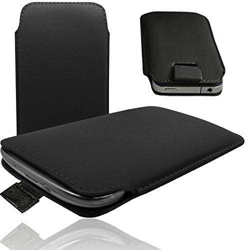 HQ SCHWARZ Slim Cover Case Schutz Hülle Pull UP Etui Smartphone Tasche für Apple IPhone 7