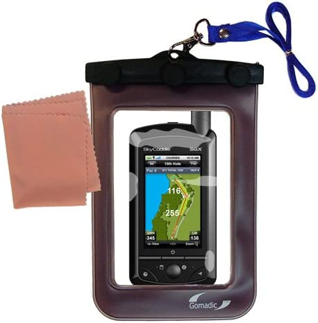 Gomadic Clean and Dry Waterproof Protective case suitablefor The SkyGolf SkyCaddie SGX to use Underwater - Unique Floating Design