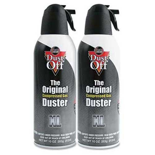 Dust-Off Disposable Compressed Gas Duster, 10 oz Cans, 2/Pack by Dust-Off