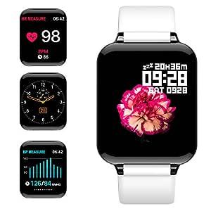 jpantech Smartwatch, 5ATM Impermeable Reloj Inteligente Hombre Mujer, Pulsera Actividad Inteligente Reloj Deportivo Reloj Fitness con Pantalla Táctil ...
