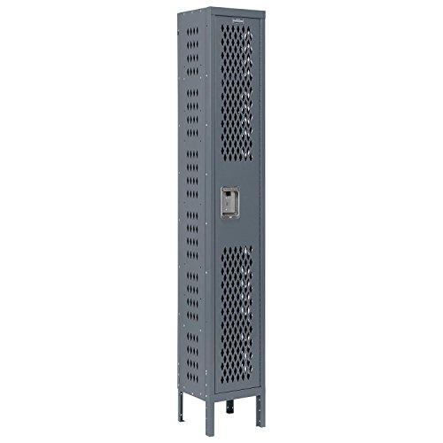 Heavy Duty Ventilated Locker (Heavy Duty Ventilated Steel Locker, Single Tier, 12x12x72, Unassembled, Gray)
