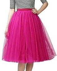 SK Studio Women's Short Vintage Petticoat Skirt Ballet Bubble Tutu Multi-Col