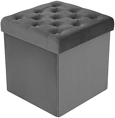 Admirable Poly And Bark Lauren Velvet Cube Storage Ottoman Grey Ncnpc Chair Design For Home Ncnpcorg