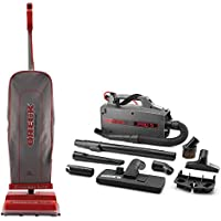 Oreck Commercial U2000R-1 120 V Red/Gray Upright Vacuum Bundle with Oreck Commercial BB900DGR XL Pro 5 HandHeld Vac