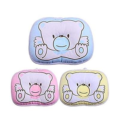 Almohada de terciopelo para beb/é con la forma adecuada para la cabeza