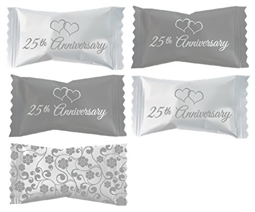 Themed Wrapped Soft Mints - 14 ounces (25th Anniversary)