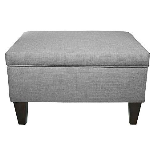 MJL Furniture Brooklyn Wood Polyester-upholstered Storage Ottoman ()