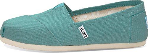 Tom - Women Slip-On Shoes, Size: 9 B(M) US, Color: Turquoise Canvas (Women Canva Shoes)