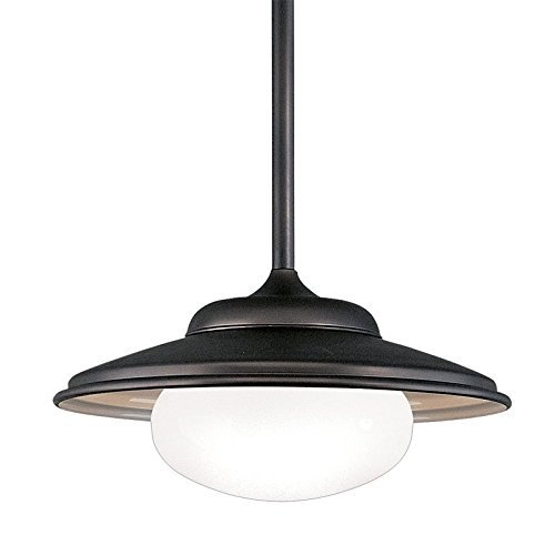 Hudson Valley Lighting Independence 1-Light Pendant - Old Bronze Finish with Opal Glossy Glass Shade by Hudson Valley Lighting