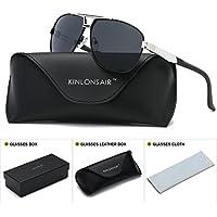 Kinlonsair Men's Polarized Aviator Sports UV400 Protection Sunglasses for Driving