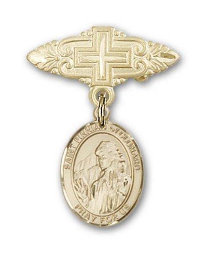 Icecarats Or Bijoux De Créateurs Rempli R. Finnian De La Broche De Badge Charme Clonard Avec Croix 1 X 3/4
