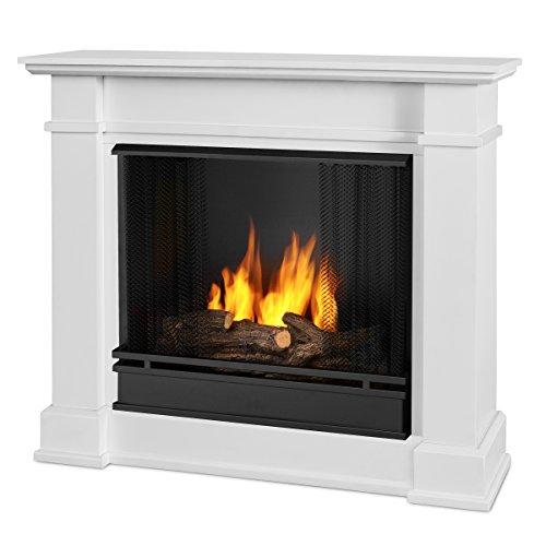 white gel fireplace - 1