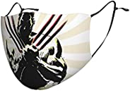 Adult Unisex Face Mask Washable Reusable Protective, Adjustable Ear Loops & Nose Clip Bandana Scarf -Wolve