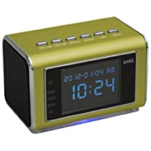 Jumbl™ Mini Hidden Spy Camera Radio Clock w/Motion Detection & Infrared Night Vision – Built-In Screen, Speaker, Micro SD Slot & AUX Line In - Standalone Operation w/o Need for Computer for your Home, Kids & More - Green