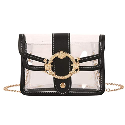 LiLi Meng Women's Wild Shoulder Bag Transparent Messenger Bag Jelly Bag Mobile Phone Bag ()