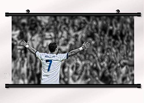 bribase shop Cristiano Ronaldo Poster with Wall Scroll 22 inch x 16 inch - Cristiano Scroll