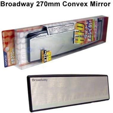 Broadway 270MM Wide Fiat Interior CIip On Rear View BIue Tint Mirror UniversaI 2