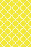 Anti-Bacterial Rubber Back AREA RUGS Non-Skid/Slip 5x7 Floor Rug | Yellow Trellis Indoor/Outdoor Thin Low Profile Living Room Kitchen Hallways Home Decorative Traditional Area Rug