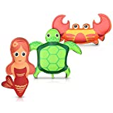 Navaris Diving Pool Toy Set - Set of 3 Aquatic Animal Toys for Swimming and Diving - Underwater Dive and Catch Game for Children Ages 3 and Up