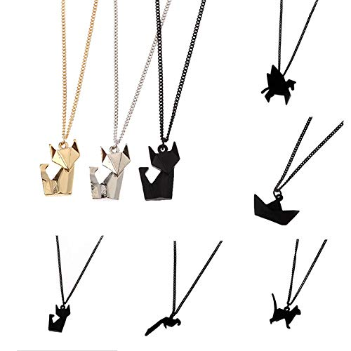 Davitu Fashion Necklace New Animals Acme Contracted Clavicle Short Chain Joker Sweater Chain Metal Color: Golden