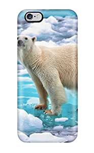 Leslie Hardy Farr's Shop New Style New Tpu Hard Case Premium Iphone 6 Plus Skin Case Cover(polar Bear On The Ice)