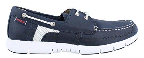 Sebago Men's Kinsley Two Eye Boat Shoe, Navy Leather, 8.5 M US (Slip Mens Sebago)