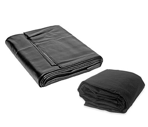 Pond American Kit (15 x 25 Firestone 45mil EPDM Pond Liner & Matching Underlayment Kit)