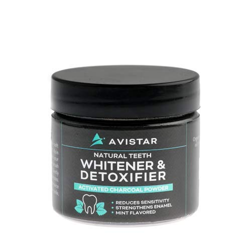 Natural Teeth Whitening Charcoal Powder With Organic Coconut Activated Charcoal And Sodium Bicarbonate: Eliminate Bad Breath And Whiten Your Smile: Mint Flavoured, Made In USA