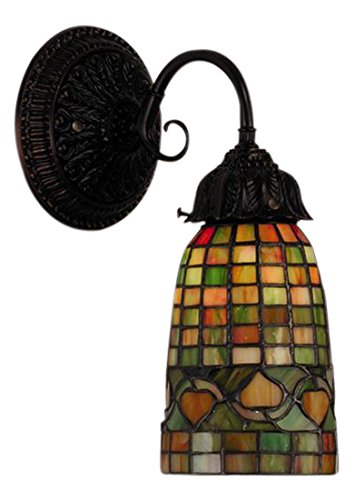 Meyda Tiffany 74049 Tiffany Acorn Wall Sconce, 12