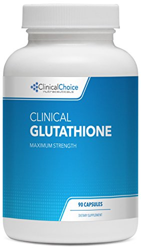 Clinical Glutathione (L-Glutathione), 600mg, 90 Capsules