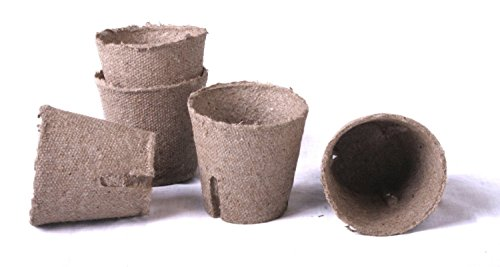 100 NEW Round Jiffy Peat Pots Size 2x2 ~ Pots Are 2 Inch Round At the Top and 2 Inch Deep.