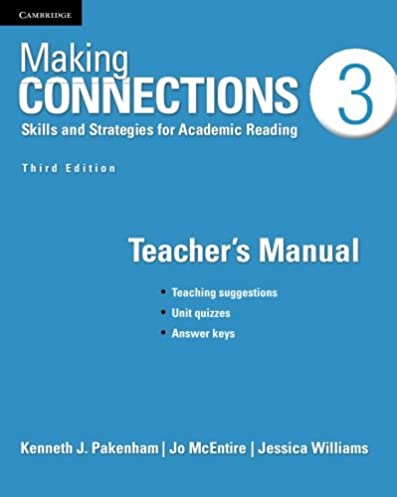 making connections level 3 teacher s manual skills and strategies rh amazon com making connections 3 teacher's manual pdf free download making connections 3 teacher's manual quizzes