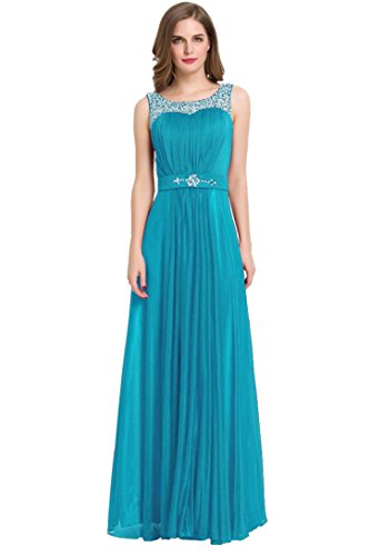 Teal Floor Length Prom Party Beads Dresses Emily Long Womens' Beauty UqxHOwfRx