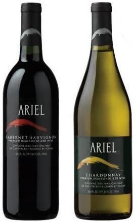 Ariel Non-alcoholic Wine Two Pack - Includes Ariel Cabernet and Ariel Chardonnay 41GvQCa06lL