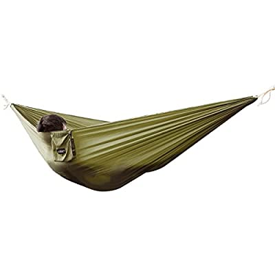 G4Free Portable Hammock - Lightweight pure Color nylon fabric Parachute Hammock for outdoor Camping, Hiking,Travel, Hammock Straps & Steel Carabiners include