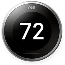 Nest Learning Thermostat | 3rd Generation WiFi Bluetooth Smart Thermostat Silver