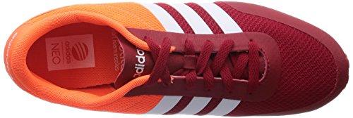 Adidas - V Racer TM - F97869 - Farbe: Weiß-Rot-Orangefarbig - Größe: 46.6