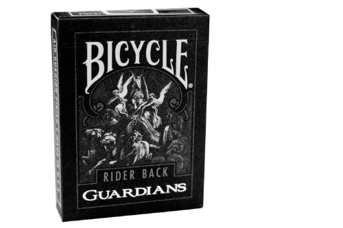 Theory11 Bicycle Guardian Playing Cards  Black  3 5 X 2 5 Inch