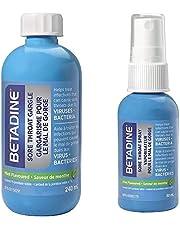Betadine Sore Throat Gargle and Betadine Sore Throat Spray, Twin Pack