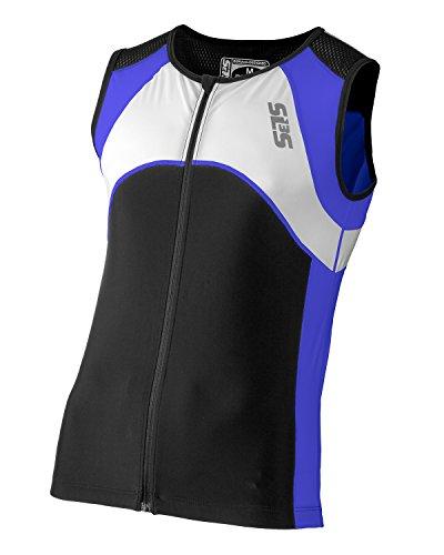 Triathlon SLS3 Men`s FX Tri Top 3 Pockets Full Zipper Jersey - Singlet -Tank