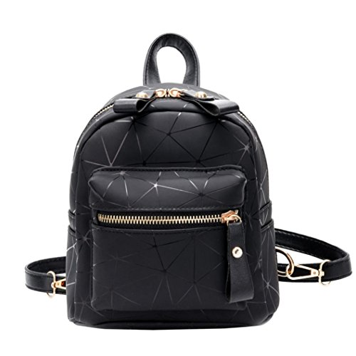 YJYDADA School Bag,Fashion Girl Splice School Bag Backpack Satchel Women Trave Shoulder Bag (Black)