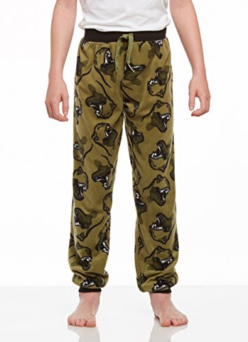 Boys Fleece Pajama Pants (Jellifish Kids Boys Pajama Bottoms, Cozy Fleece Jogger Pants, Dinosaur, by)
