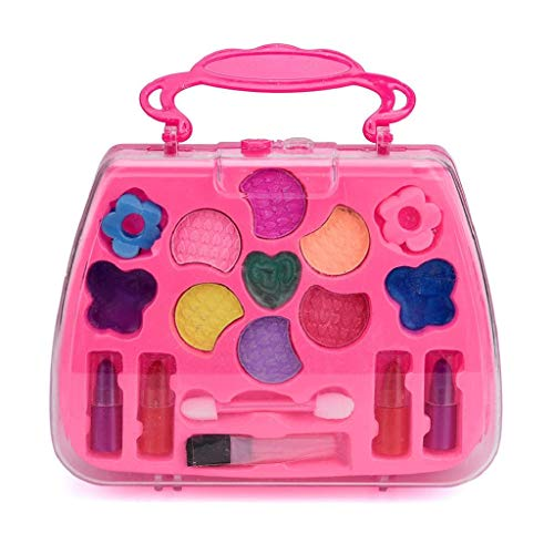 - Rape Flower Princess Girl's Pretend Play Toy Deluxe Makeup Palette Set Non Toxic for Kids