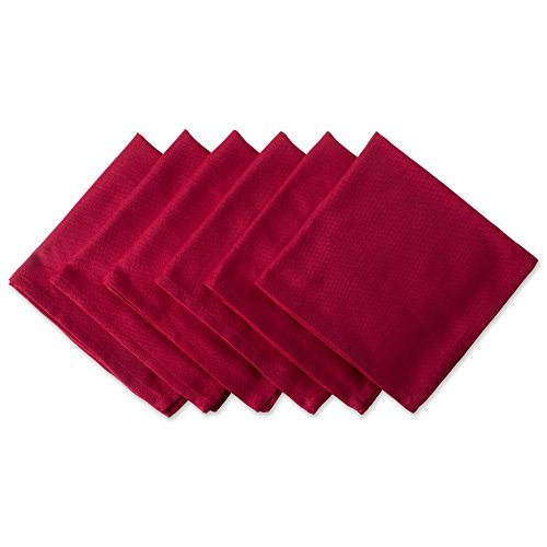 DII Oversized 20x20 Cotton Napkin, Pack of 6, Variegated Tango Red - Perfect for Fall, Thanksgiving, Brunch, Christmas, Dinner Parties or Everyday Use